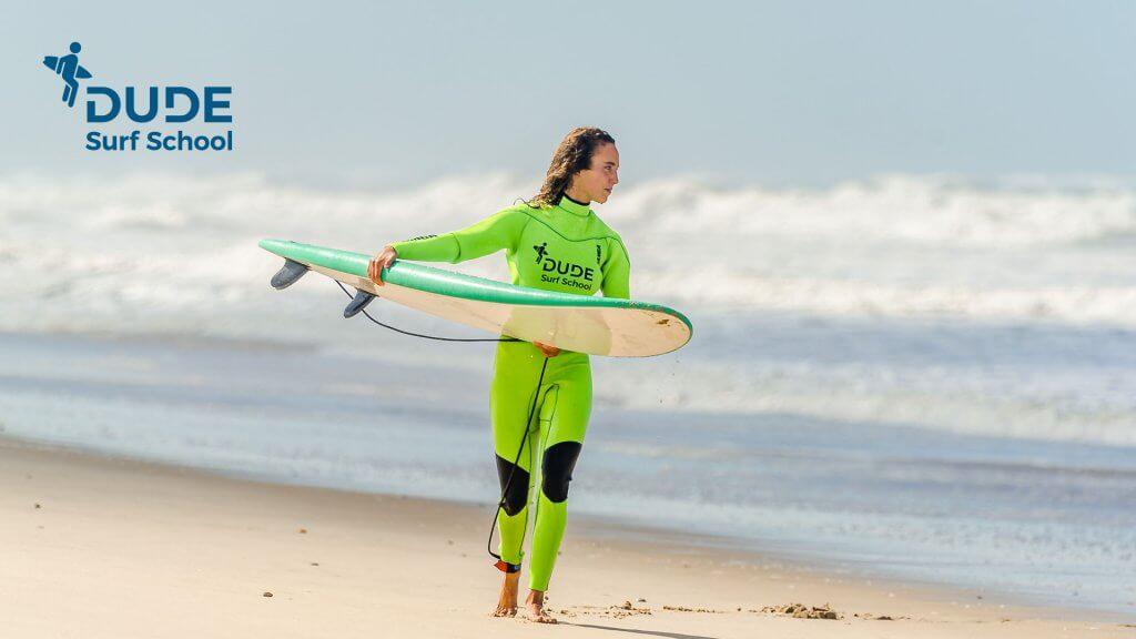 Aulas de Surf na Dude Surf School Figueira da Foz