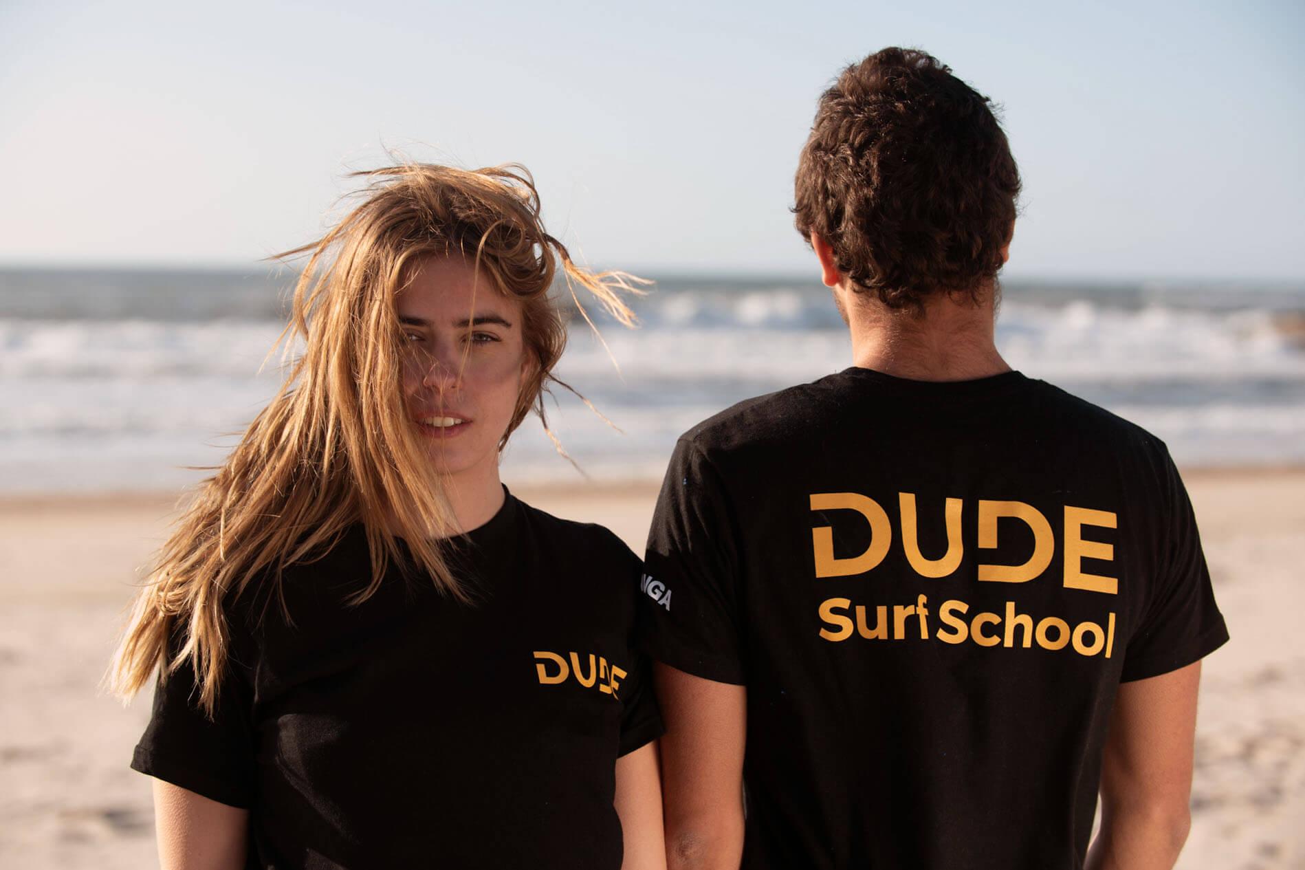 T-shirt Dude - Black and Yellow
