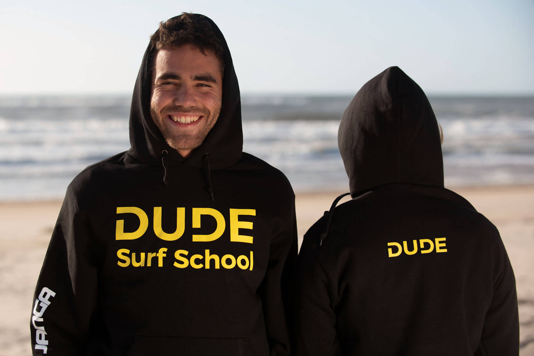 Hoodie Dude – Black and Yellow